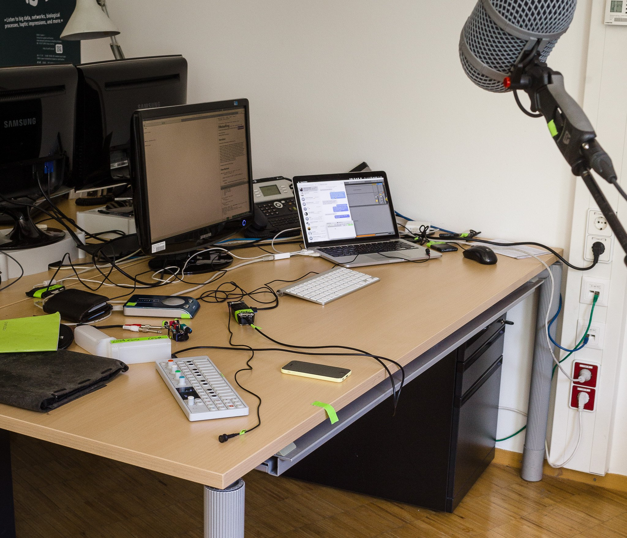 My desk where I did my first livecoding rehearsal.